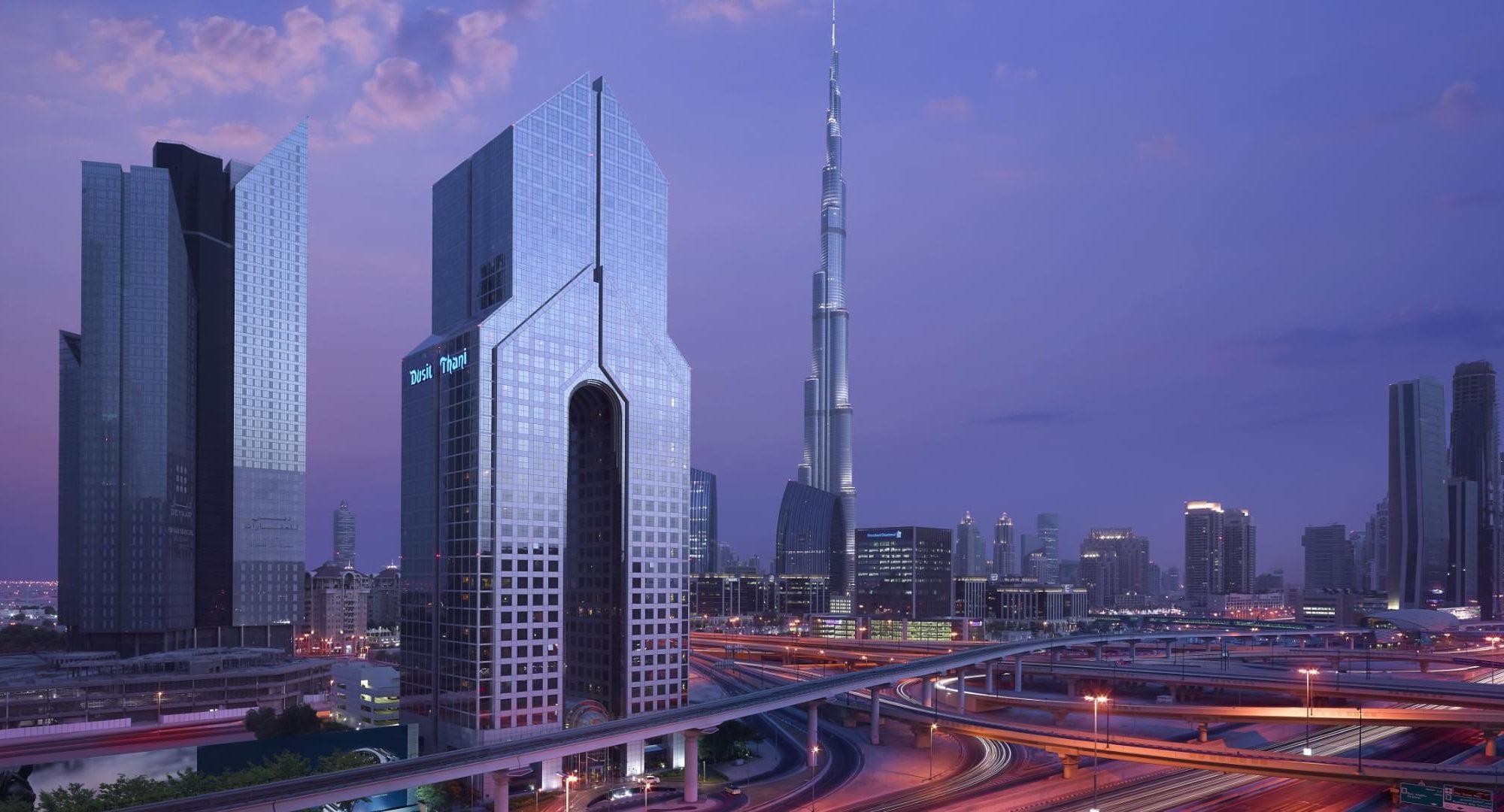 Dusit Thani Dubai exterior