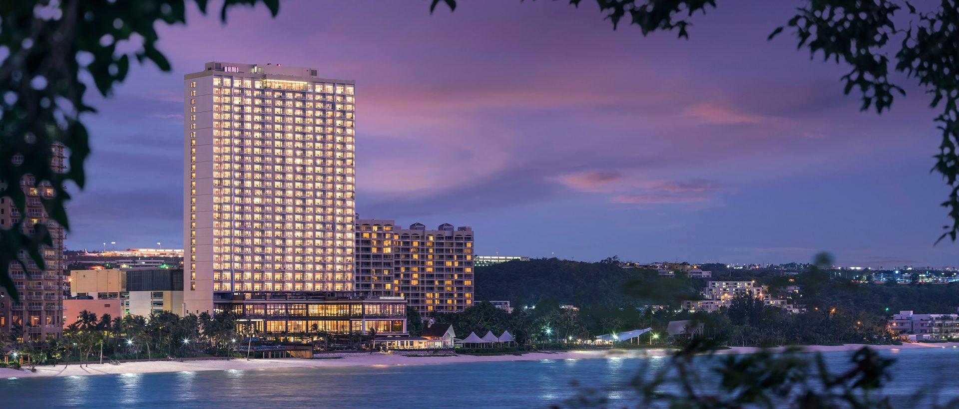 dusit thani guam resort - hotel-exterior-night