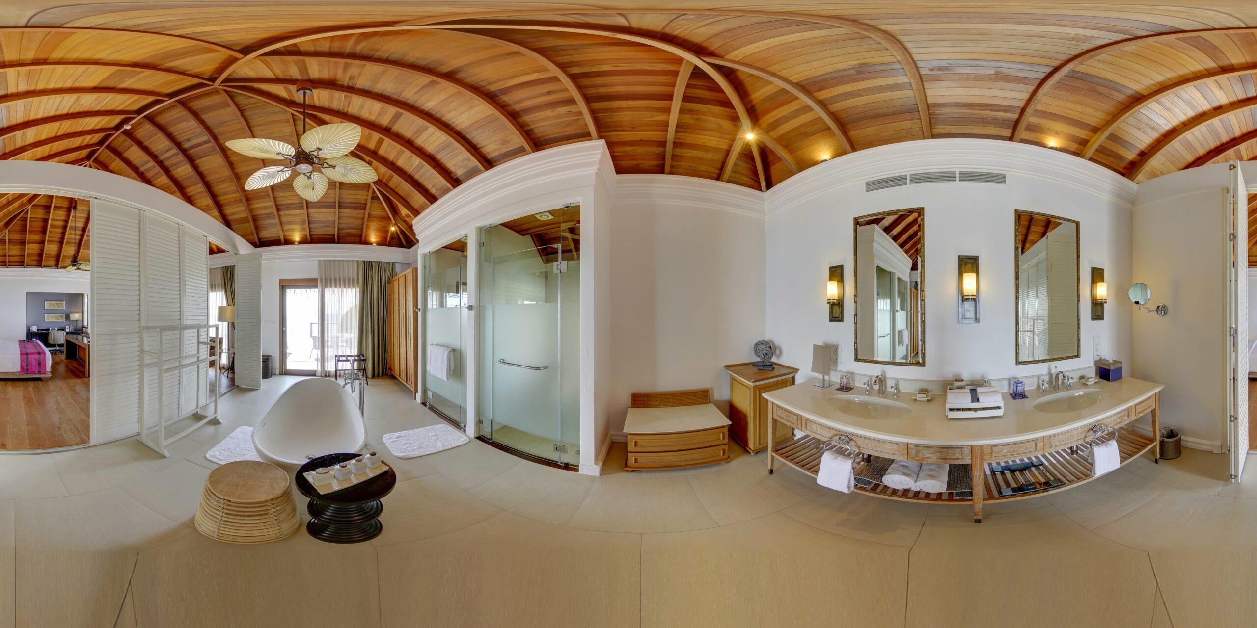 Ocean Villa with Pool, Bedroom, bathroom