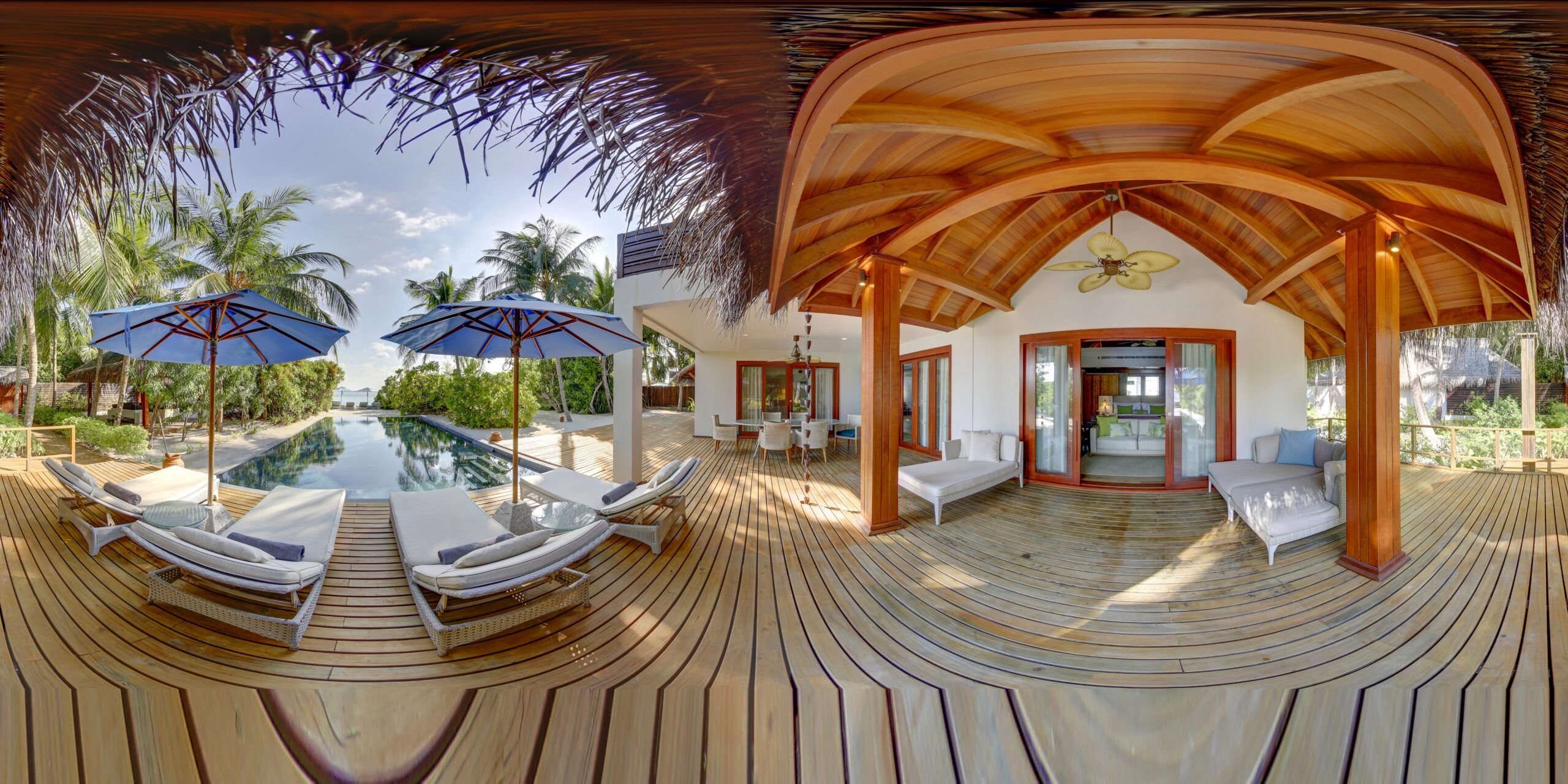 Two Bedroom Beach Residence with Pool, Terrace and Pool View