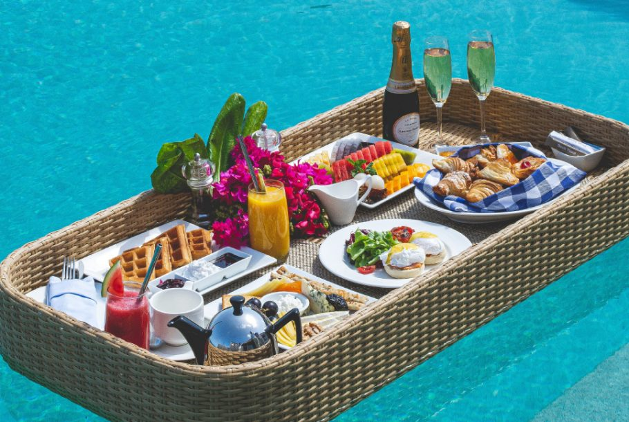 Floating Breakfast with Demi Bottle of Champagne
